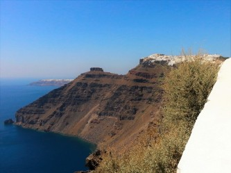 nature in santorini