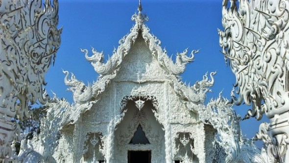 beautiful white temple