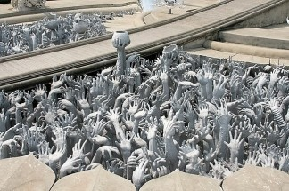 hell in white temple in thailand