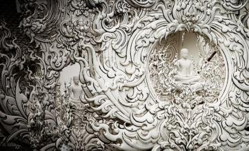 detail of wat rong khun