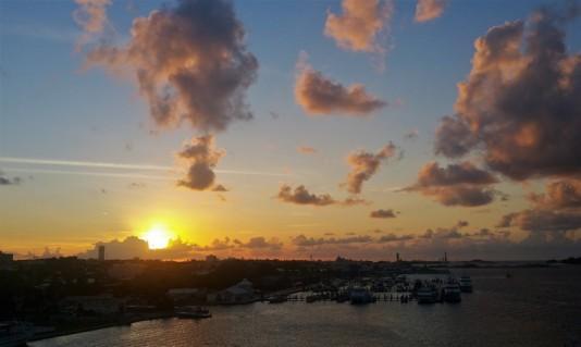 coucher de soleil de Nassau