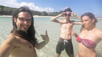 friends selfie in blue lagoon island