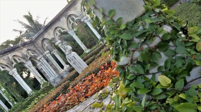 french cloister and versailles garden nassau bahamas