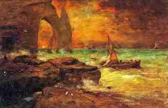 coucher-soleil-etretat-george-inness