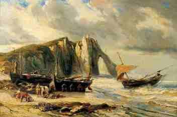 falaises-etretat-louis-gabriel-eugene-isabey-1803-1886
