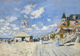 Peinture planches trouville de Monet