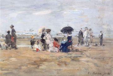 Peinture bain de mer boudin