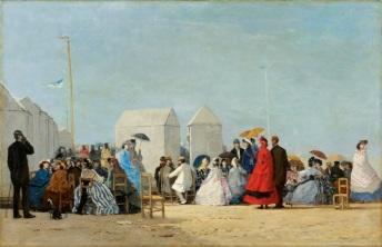 Peinture Plage de Trouville par Boudin