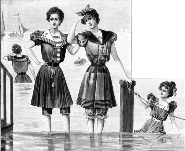 carte postale bain de mer en normandie
