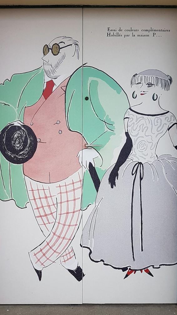 caricature bain de mer deauville