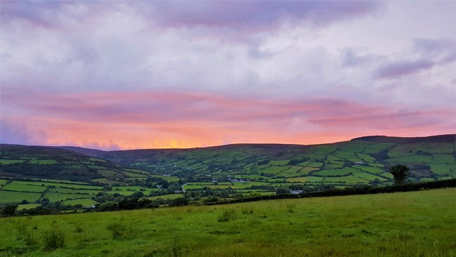 sunset in ireland
