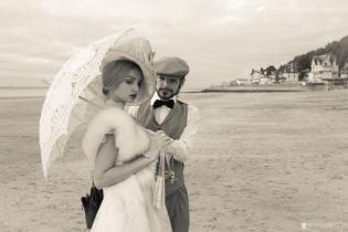 couple reconstitution des bains de mer