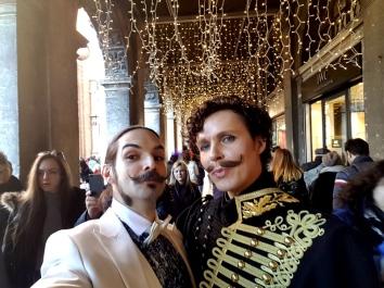 Carnaval de Venise moustache man