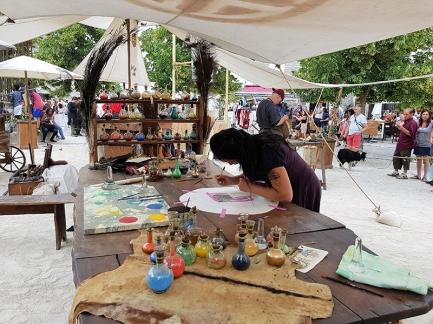 peinture festival medieval de provins