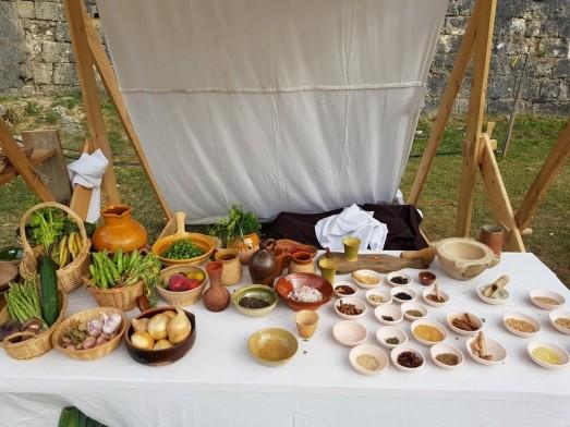 nourriture moyen age festival de provins