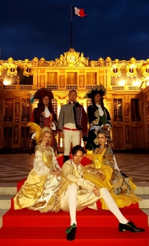 group fro,t versailles fetes galantes