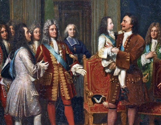 louis xv et le tsar pierre le grand