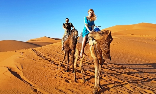 camel ride luxury desert camp merzouga