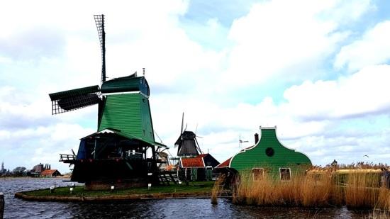 moulins verts Zaanse Schans