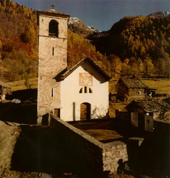 village ancienne église mogno switzerland