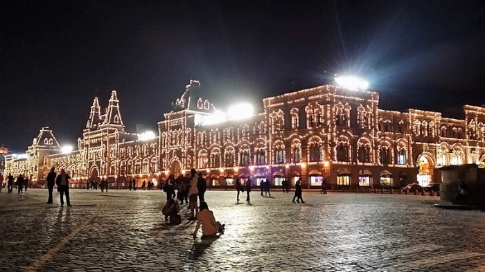 night light in red square