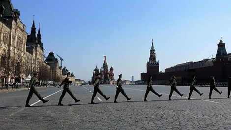 military show red square
