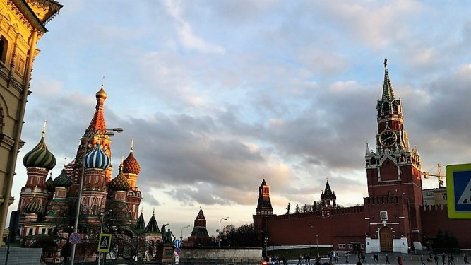 sunset red square