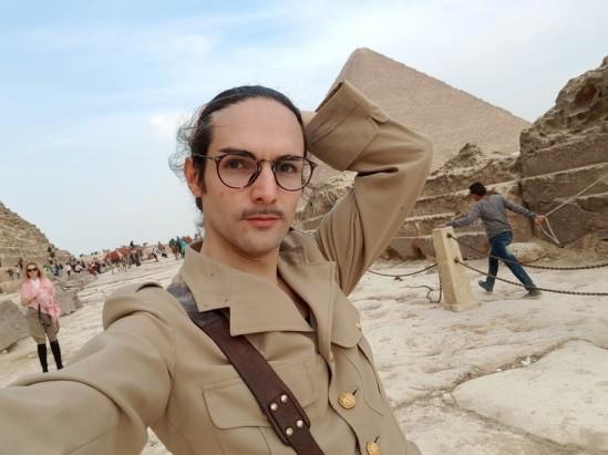 selfie pyramides gizeh cairo egypt