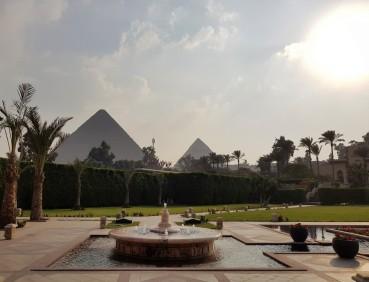 jardin mena house hotel egypte