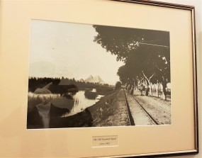 photographie vintage train mena house hotel egypte