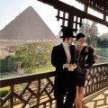 balcon suite vue pyramid 1920 mena house hotel egypt