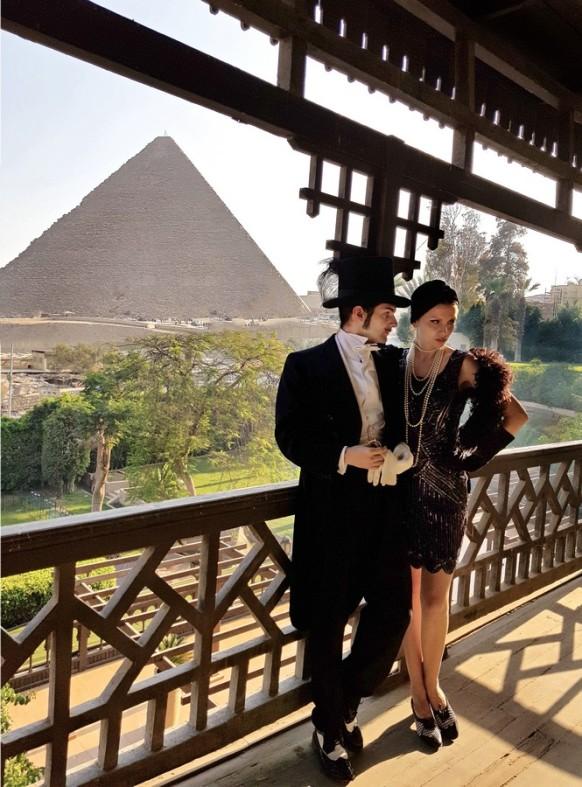 balcon suite vue pyramid 1920 mena house hotel egypt