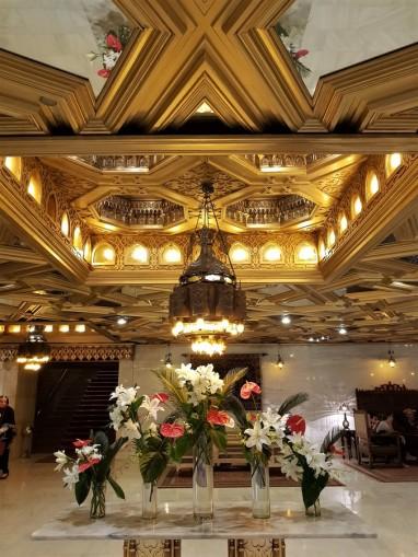 entrée hall mena house hotel egypte