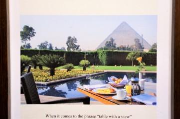 breakfast mena house hotel egypte