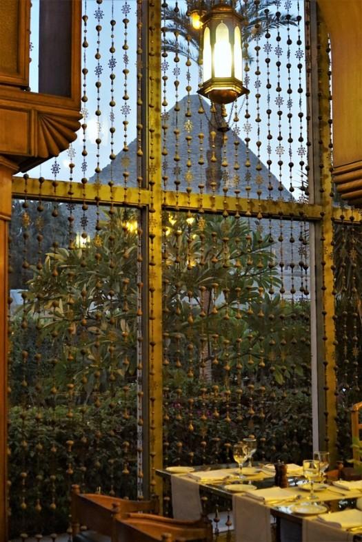 vue restaurant pyramide mena house hotel egypte
