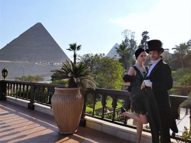 couple mariage 1910 mena house hotel egypte