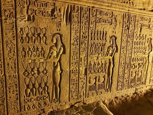 temple edfou et kom ombo egypte vintage