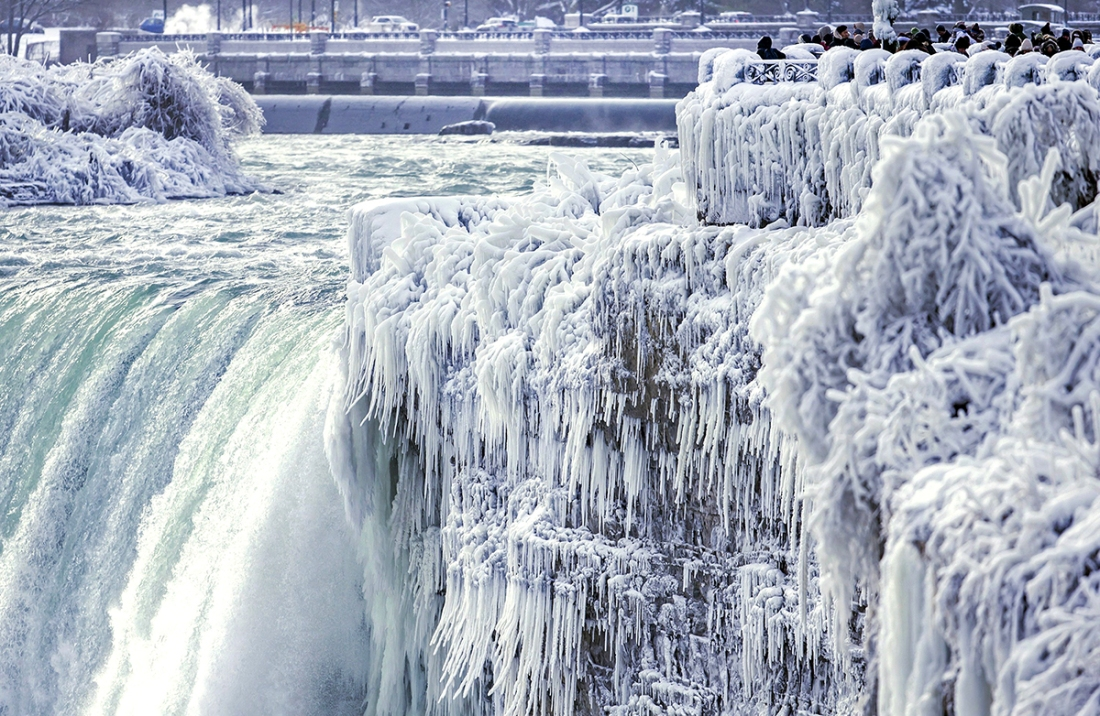 winter ice niagara falls