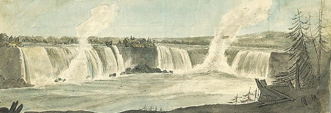 Niagara Falls Ontario draw by Elizabeth Simcoe 1792