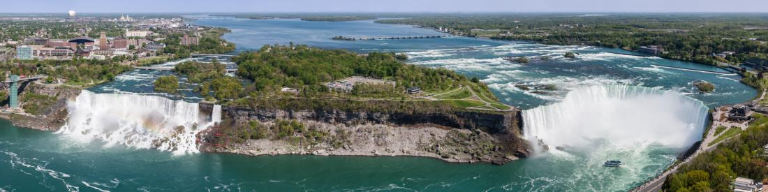 Skylon Tower panorama chutes Niagara